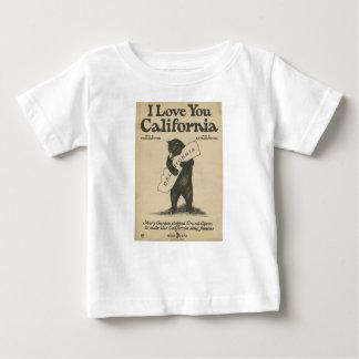 Je t'aime la chemise de l'enfant de la Californie T-shirt Pour Bébé