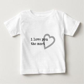 je t'aime le coeur le plus mignon t-shirt pour bébé