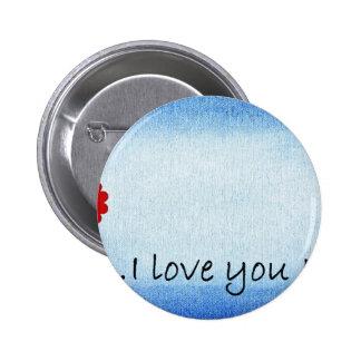Je t'aime maman badge