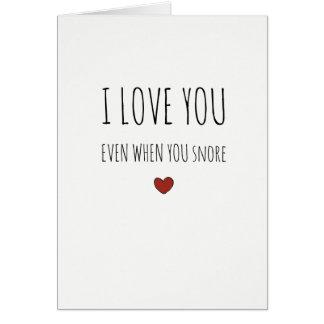 Je t'aime même lorsque vous carte impertinente de