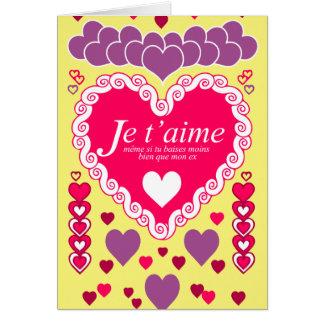 Je t'aime, même si... carte de vœux