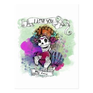 Je t'aime même si je meurs - toile P d'amor de Carte Postale