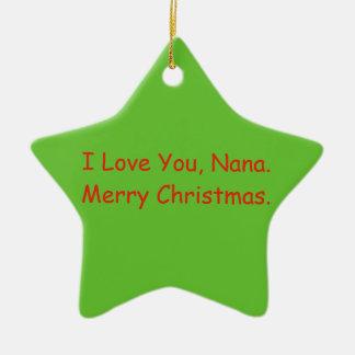 """""""Je t'aime, ornement de Joyeux Noël de Nana"""""""