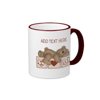 Je t'aime ours de nounours personnalisable - tasse