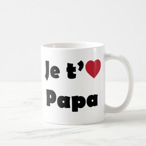 Je t'aime papa mug