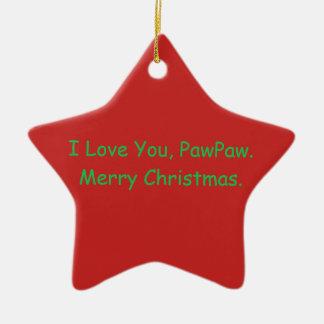 """""""Je t'aime, papaye. Ornement de Joyeux Noël"""""""