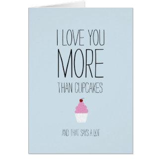 Je t'aime plus que la carte de Valentines de