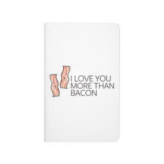 Je t'aime plus que le lard carnet de poche
