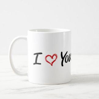 Je t'aime tasse
