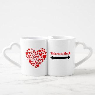 Je t'aime tasses beaucoup jumelles de tasses de ce