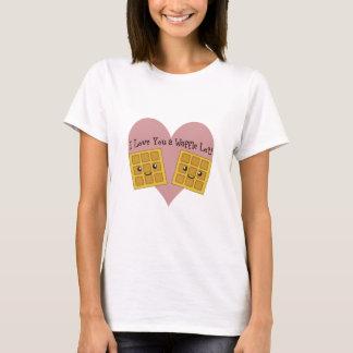 Je t'aime un sort de gaufre ! t-shirt