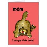 Je t'aime une carte de chat de maman de groupe de