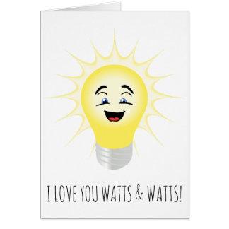 Je t'aime watts et watts de carte drôle de