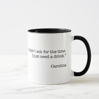 """Je tasse ai besoin juste de boissons"""