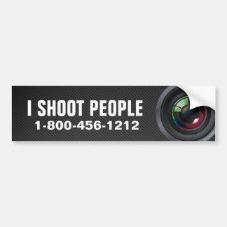 Je tire des personnes - photographe autocollant pour voiture