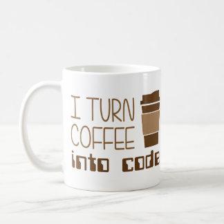 Je transforme le café en code de programmation mug