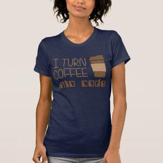 Je transforme le café en code de programmation t-shirt
