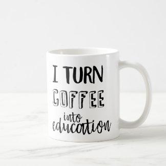 Je transforme le café en éducation mug