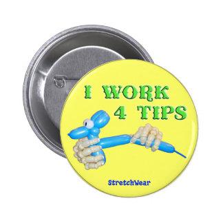Je travaille le bouton rond de chien de ballon de  badges
