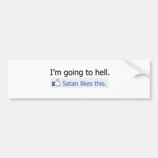 Je vais à l'enfer adhésif pour voiture