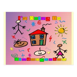 Je vais au jardin d'enfants carte postale