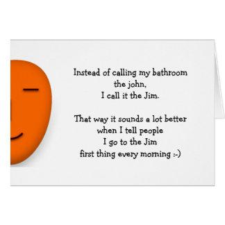Je vais chez le JIM la citation que drôle de Carte De Vœux