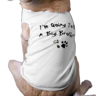 Je vais être un frère ! t-shirt pour chien