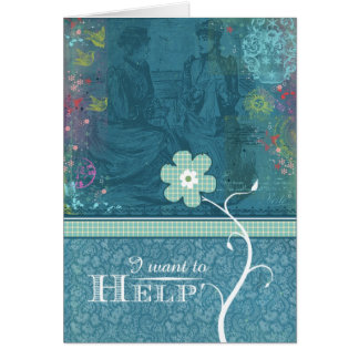 Je veux aider carte de vœux