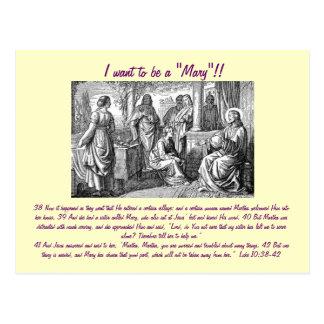 "Je veux être ""Mary"" ! ! carte postale"