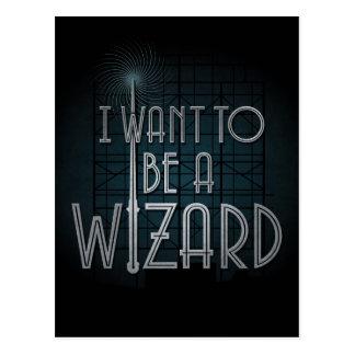 Je veux être un magicien carte postale
