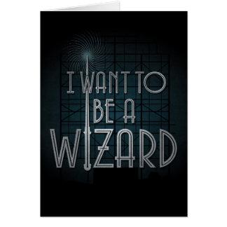 Je veux être un magicien cartes