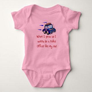 Je veux être un policier comme mon bébé T-Shi de Body
