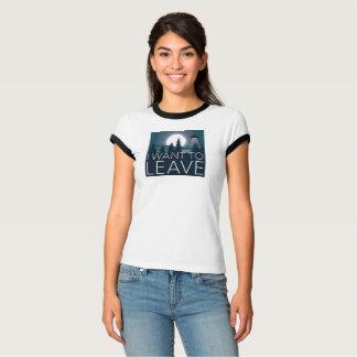 Je veux laisser à UFO l'humeur drôle T-shirt
