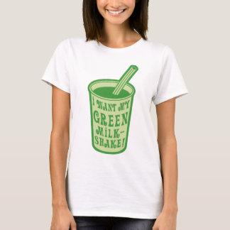Je veux mon T-shirts vert de milkshake