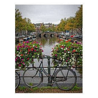 Je veux monter ma bicyclette à Amsterdam - carte Carte Postale