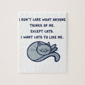Je veux que les chats m'aiment puzzles