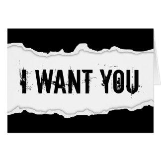 je veux que vous paginiez la déchirure cartes de vœux