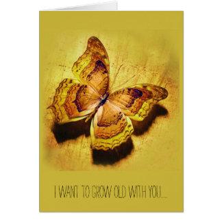 Je veux vieillir avec vous… carte de vœux