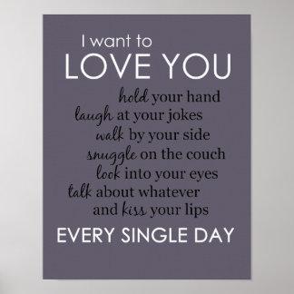 Je veux vous aimer chaque jour affiche