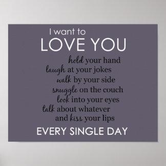 Je veux vous aimer chaque jour (horizontal) poster
