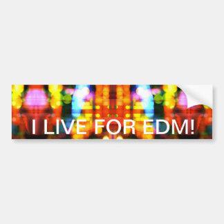Je vis pour EDM !  Adhésif pour pare-chocs Adhésifs Pour Voiture