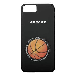 Je vis pour jouer au basket-ball coque iPhone 7