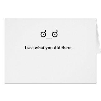 Je vois ce que vous avez fait là carte de vœux