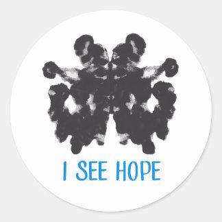 Je vois l'autocollant d'espoir sticker rond