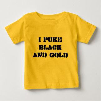 Je vomis le NOIR ET L'OR T-shirt Pour Bébé