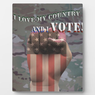Je vote plaque photo