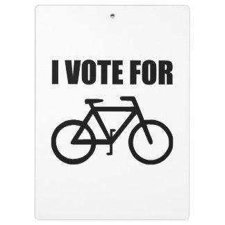 Je vote pour la bicyclette