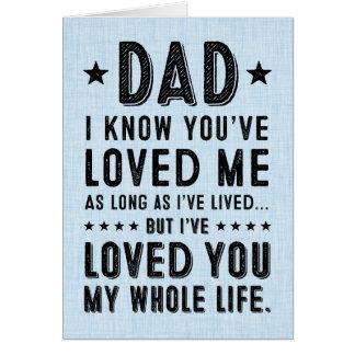 Je vous ai aimés ma vie entière : Fête des pères Cartes