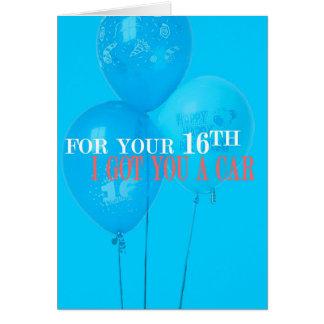 Je vous ai obtenu une 16ème carte d'anniversaire
