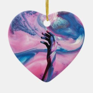 Je vous ai trouvés ornement cœur en céramique